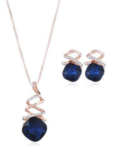 Latest Rhinestone Alloy Necklace with Earring Set