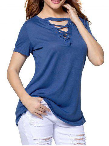 Buy Simple Lace-up T-shirt