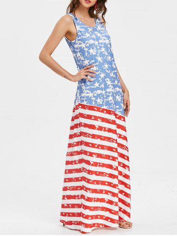 Buy American Flag Sleeveless Maxi Dress