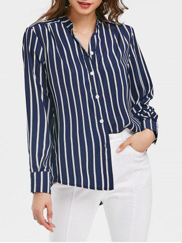 Buy Vertical Stripe High Low Tunic Top