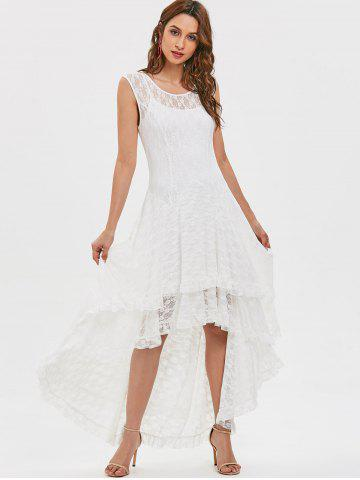 22b2ca773a Tiered Lace High Low Dress