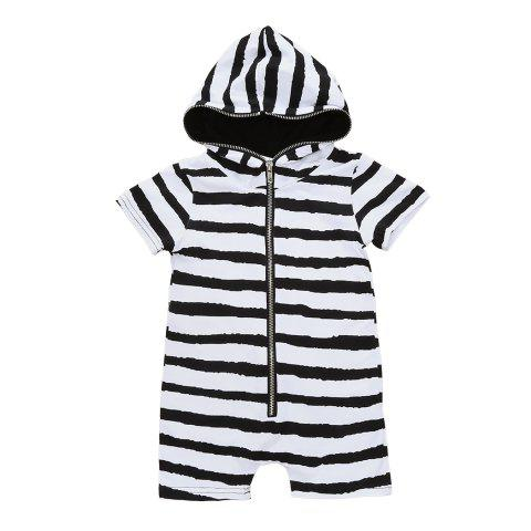 Newborn Infant Baby Boys Girls Hooded Romper Bodysuit Jumpsuit Clothes Outfits