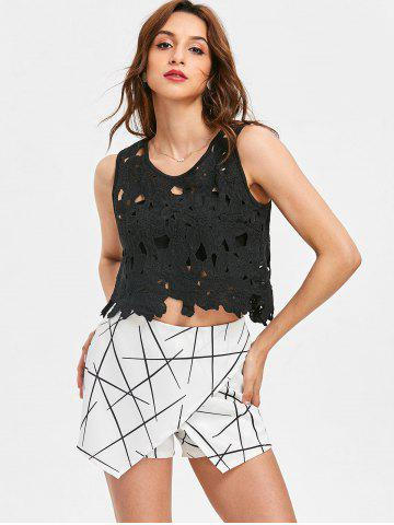 Lace Hollow Out Cropped Tank Top