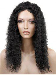 Long Oblique Bang Curly Lace Front Synthetic Wig -