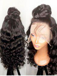 Long Side Bang Wavy Lace Front Synthetic Wig -