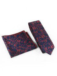 Flourishing Flowers Silky Shirt Tie and Handkerchief Set -