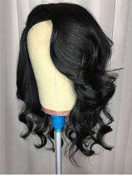 Medium Inclined Bang Body Wave Lace Front Synthetic Wig -