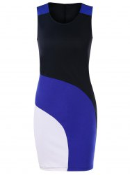 Color Block Slim Fit Dress -