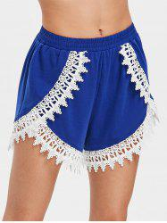 Lace Trim Mini Beach Shorts -