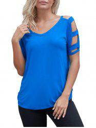 Cutout Simple T-shirt -