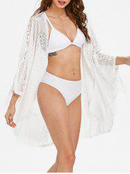 Fringe See Through Lace Cover Up -