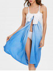 Gradient Color Bowknot Front Beach Cover Up Dress -