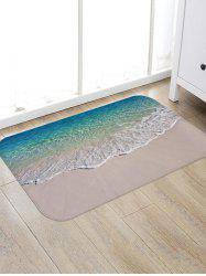 Beach Seawaves Print Floor Area Rug -