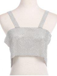 Sparkly Rhinestoned Chainmail Party Body Jewelry -