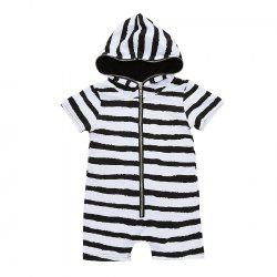 Newborn Infant Baby Boys Girls Hooded Romper Bodysuit Jumpsuit Clothes Outfits -