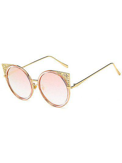 Shops Unique Metal Frame Hollow Out Circle Sunglasses