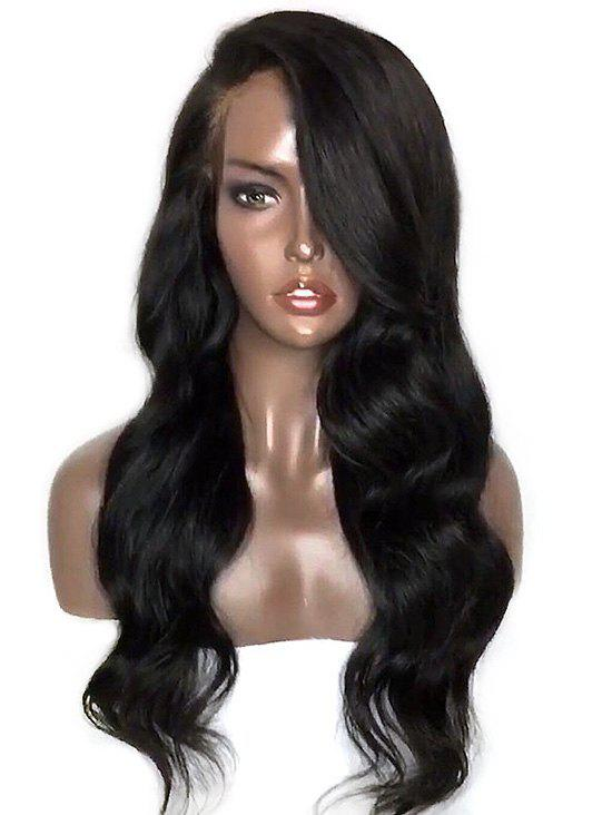 Fashion Long Side Parting Wavy Synthetic Lace Front Wig