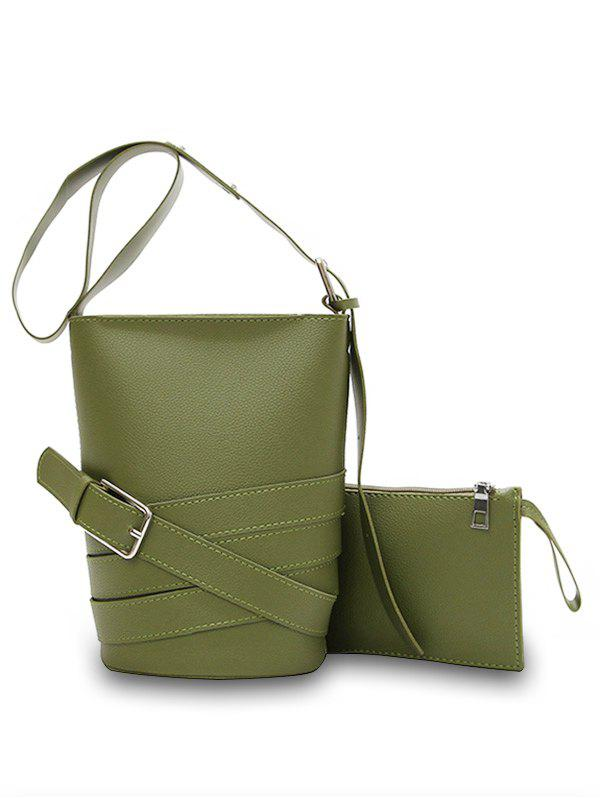 Online Casual Bucket 2 Pieces Crossbody Bag Set