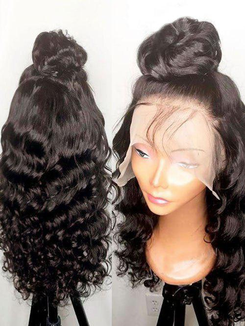Best Long Side Bang Wavy Lace Front Synthetic Wig