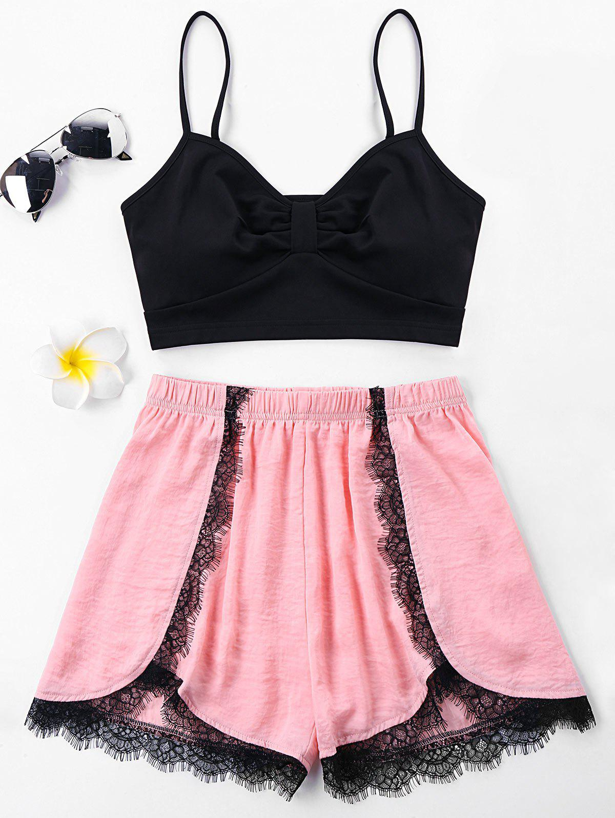 Hot Lace Insert Two Piece Outfits