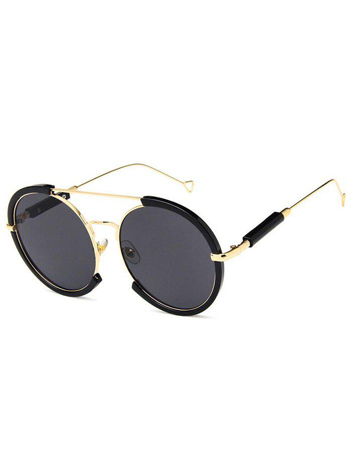 Affordable Metal Frame Street Snap Round Sunglasses