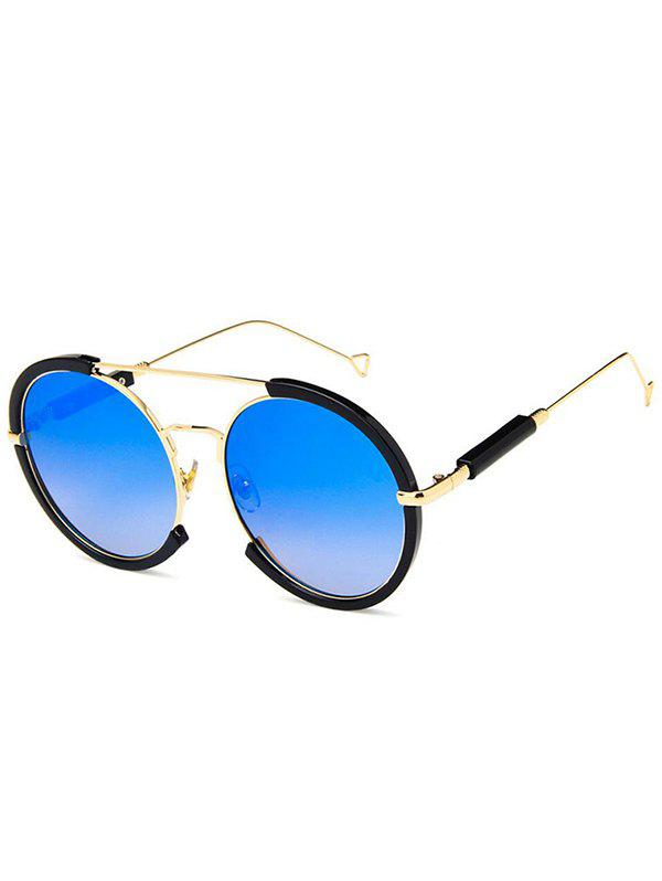 Shop Metal Frame Street Snap Round Sunglasses