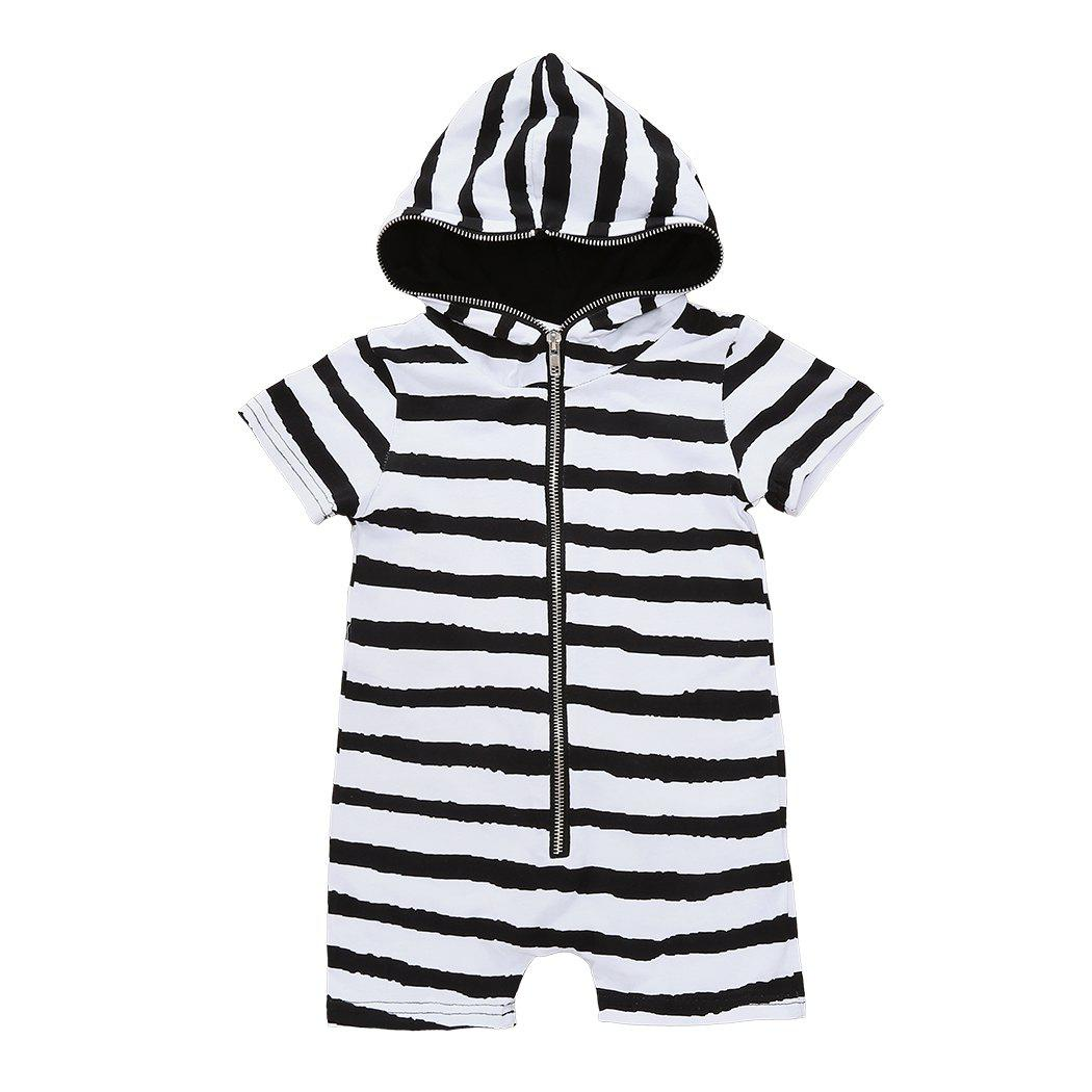Online Newborn Infant Baby Boys Girls Hooded Romper Bodysuit Jumpsuit Clothes Outfits