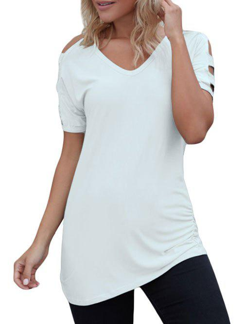 Affordable Cutout Simple T-shirt