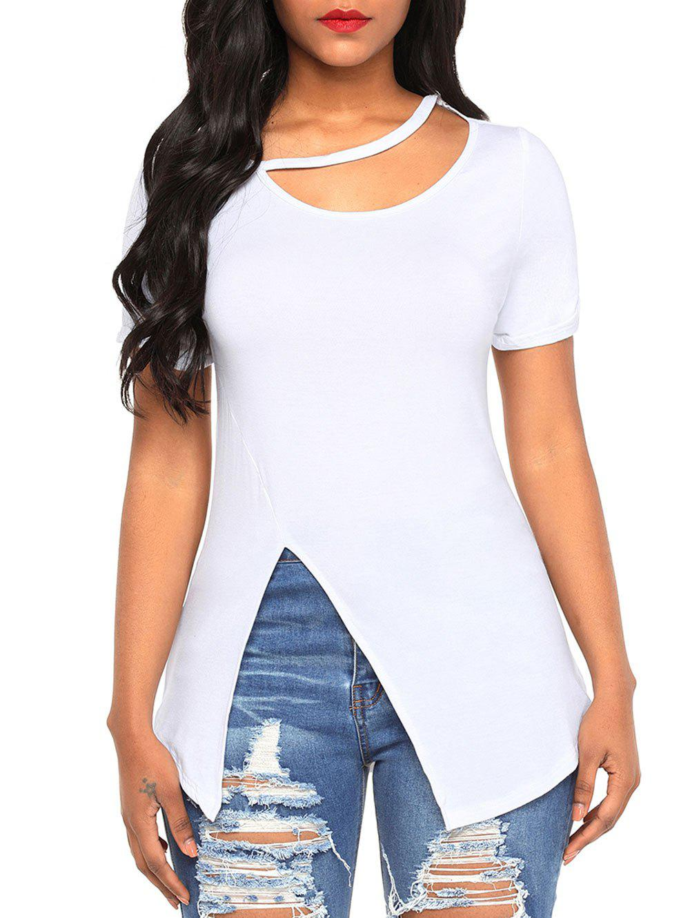 Outfit Soft Cutout Slit Tee