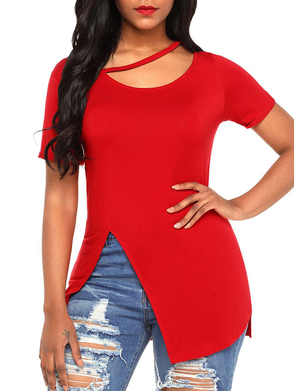 Buy Soft Cutout Slit Tee