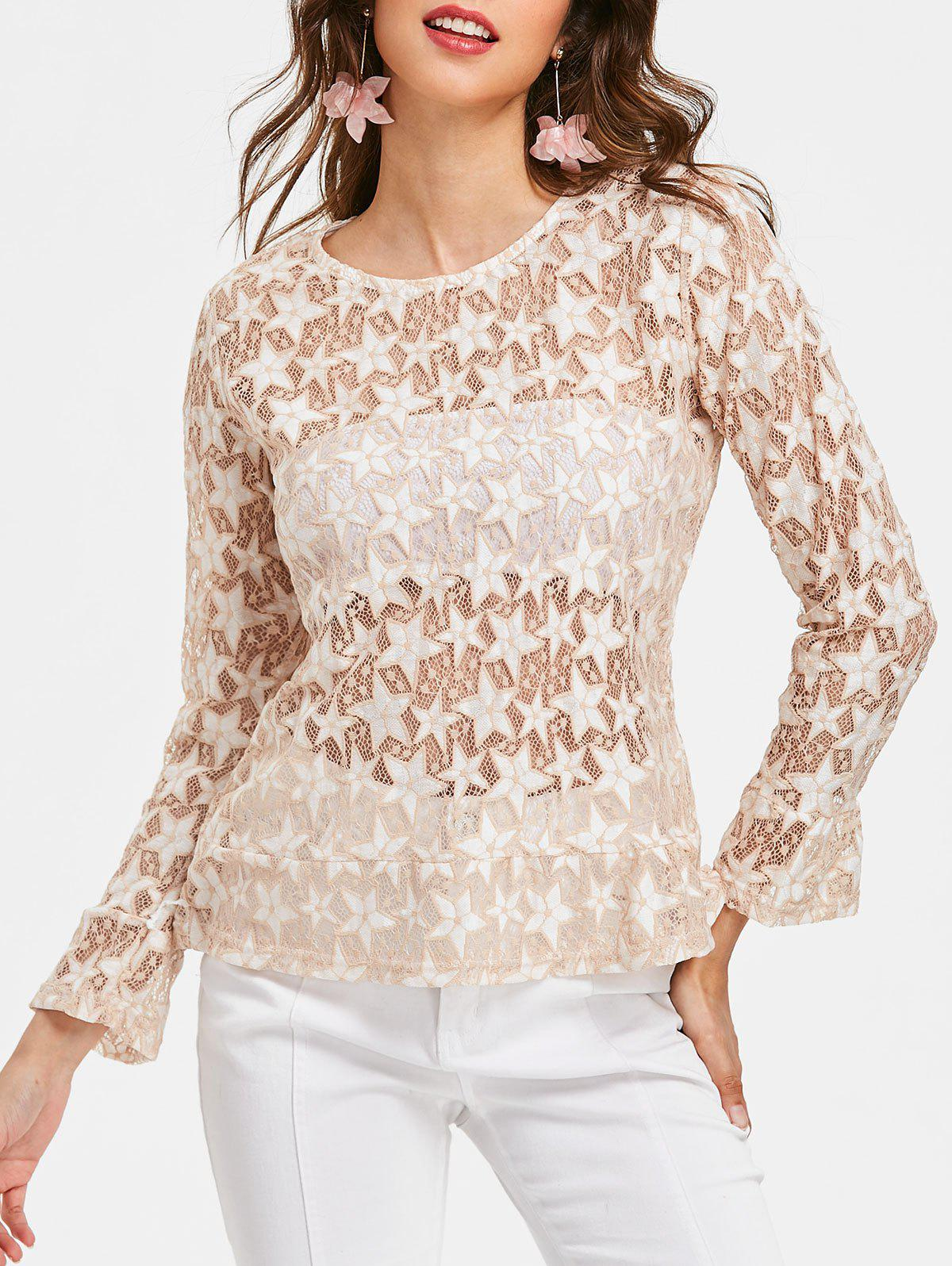 Discount Star See Thru Blouse