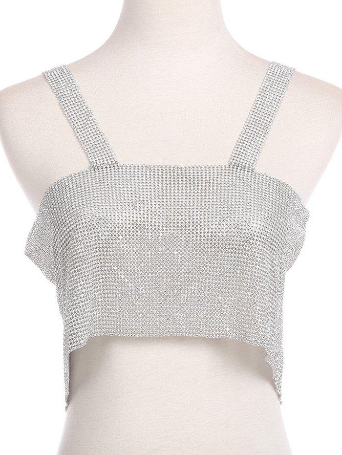 Buy Sparkly Rhinestoned Chainmail Party Body Jewelry