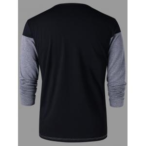 Long Sleeves Two Tone T-shirt -