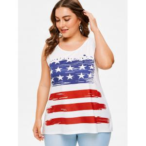 Plus Size American Flag Tank Top -