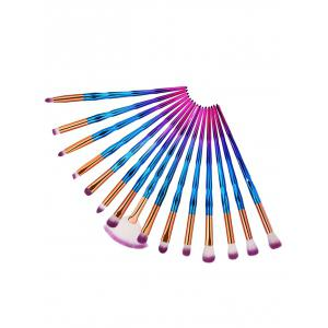 15Pcs Color Changing Handle Eye Makeup Brush Kit -