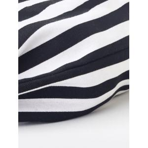 Stripe Print String Backpack for Trip -
