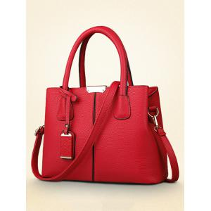Casual Minimalist PU Leather Handbag -