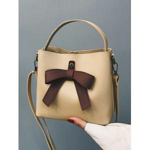 Кожа PU Bowknot Top Handle Crossbody Bag -