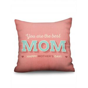 Mother's Day Gift Letters Printed Throw Pillow Case -