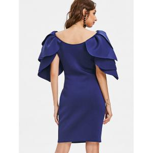 Petal Sleeve Knee Length Party Dress -