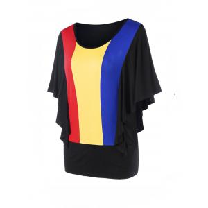 Rainbow Butterfly Sleeves Blouson Top -
