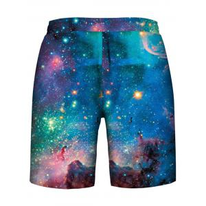 Stary Sky Print Hoodies Tank Top and Shorts -
