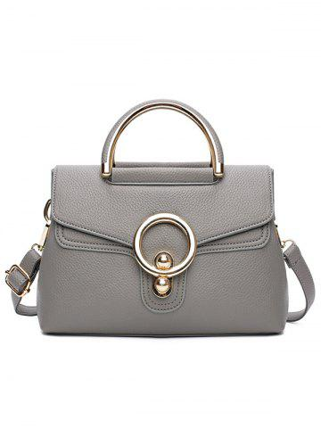 Trendy PU Leather Casual Shopping Handbag