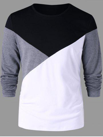 Latest Long Sleeves Two Tone T-shirt