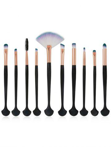 Shops Set of 10Pcs Shell Shape Ultra Soft Silky Eye Makeup Brush Kit