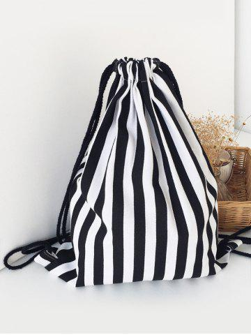 Latest Stripe Print String Backpack for Trip