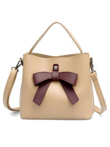 Кожа PU Bowknot Top Handle Crossbody Bag