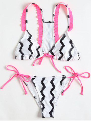 Discount Side Tie Printed String Bikini Set