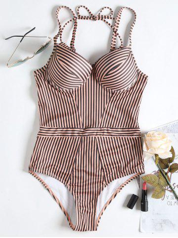 Store Push Up Striped High Waisted Swimsuit