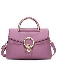 PU Leather Casual Shopping Handbag -